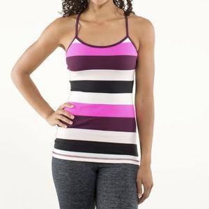 Lululemon Power Y Tank Luon Light Stripe Print